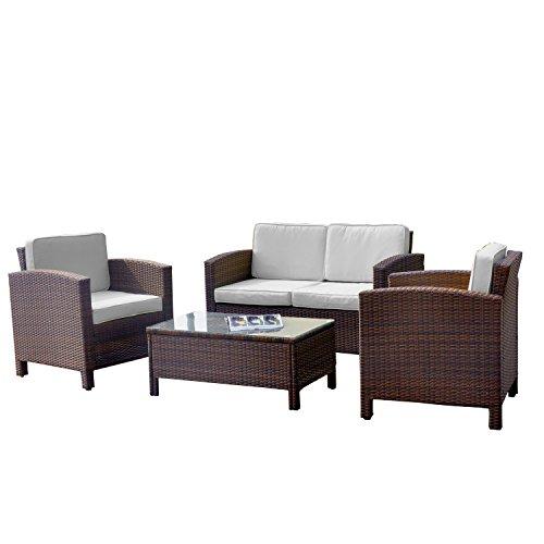 Xinro 13tlg Deluxe Lounge Möbel Set Gruppe Garnitur Gartenmöbel