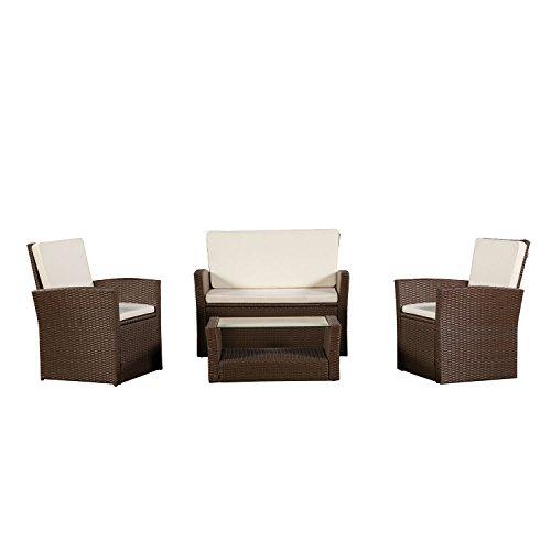 ArtLife Polyrattan Sitzgruppe Lounge Salvador (Braun)...