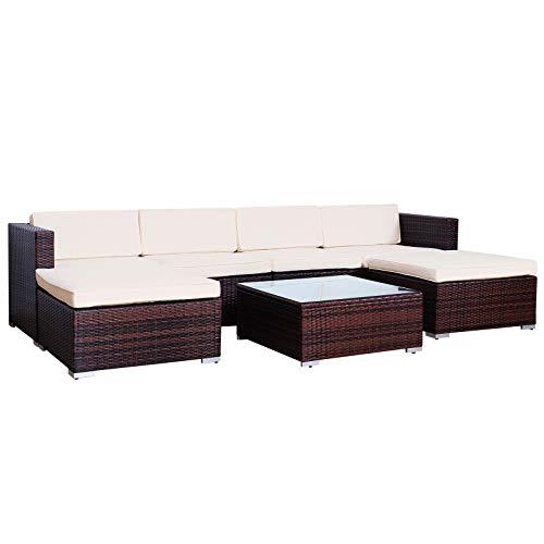 SVITA Lugano Poly Rattan Lounge Garten-Set XXL Sofa-Set...