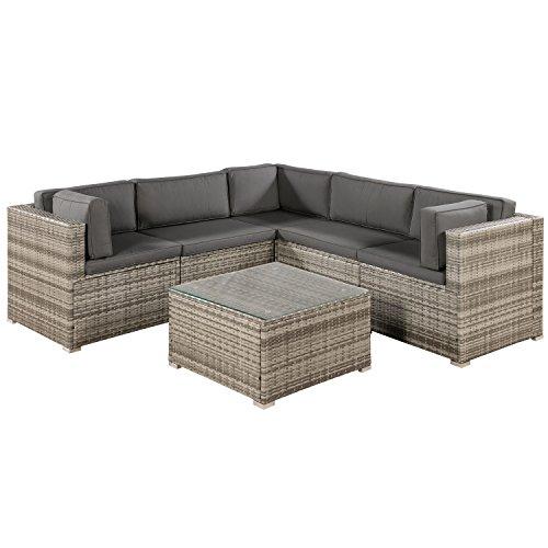 ArtLife Polyrattan Lounge Sitzgruppe Nassau beige-grau...