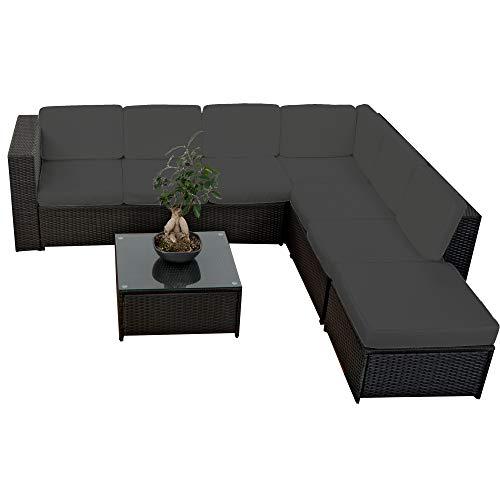 20tlg. Deluxe Lounge Garnitur Set Gruppe Polyrattan...