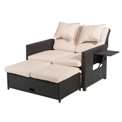greemotion Rattan-Lounge Bahia, Sofa & Bett aus...